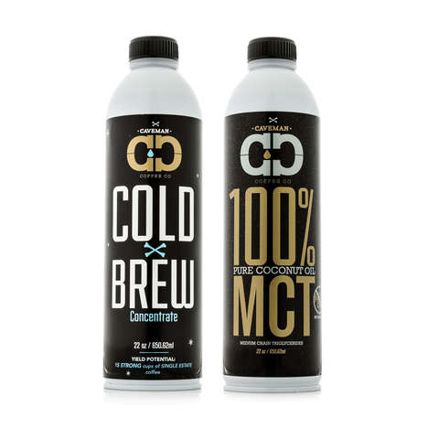 Full-Fat Cold Brew Kits - The Cold Brew Caveman Kit Pairs 100% Coconut Oil and Coffee Concentrate