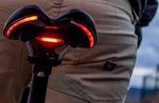 The 'BLINK' Bike Saddles Incorporate a Rear Brake Light for Visibility