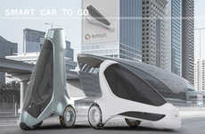 The 'Car2Go' Automobile Concept Stands Up When Parked to Save Space