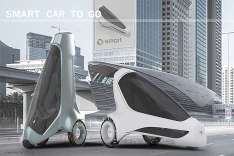 Space-Saving Urban Vehicles - The 'Car2Go' Automobile Concept Stands Up When Parked to Save Space