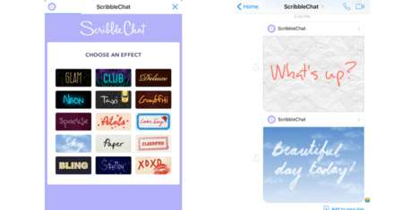 Handwritten Texting Apps - ScribbleChat Brings Handwritten Style to Users' Text Messages
