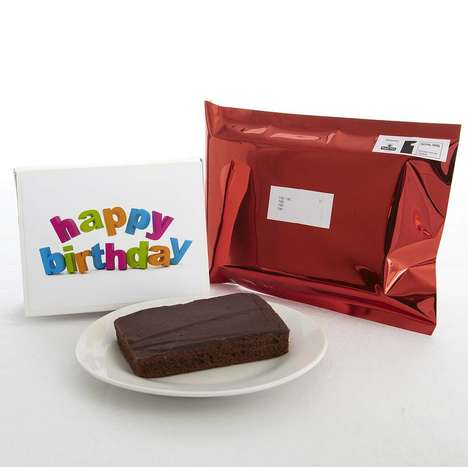 Envelope-Sized Cake Slices - The Cake Nest's Happy Birthday Cards Include an Insert for Cake