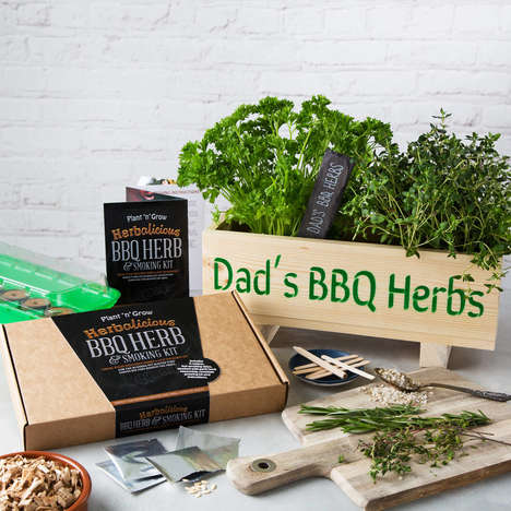 Compact Herb Kits - Plant 'n' Grow's BBQ Backyard Herb Kit is Packaged for Convenient Delivery