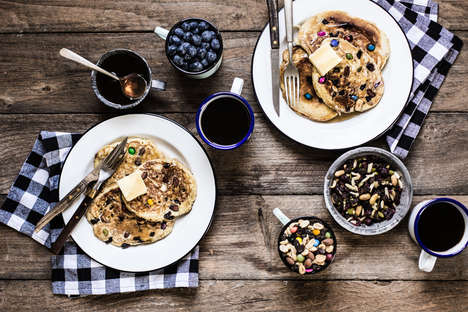 Trail Mix Pancakes - This Protein-Packed Recipe for a Morning Meal Contains a Classic Camping Snack