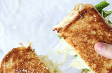 Gourmet Green Grilled Cheeses