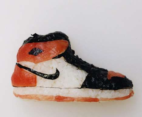 Edible Sushi Sneakers - Artist Yujia Hu Creates Sushi Sculptures That Resemble Footwear