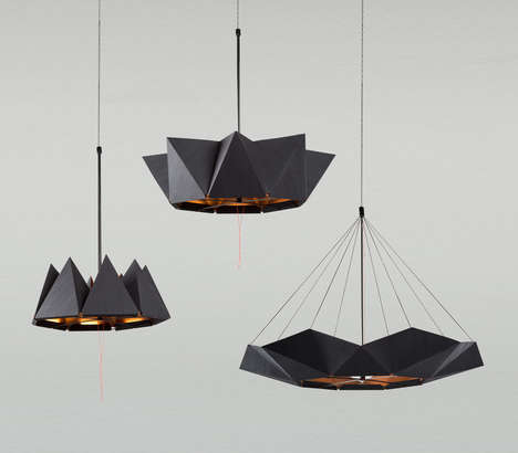 Organically Inspired Moving Lamps - The inMOOV Lamp Has an Elegant Folding Shade