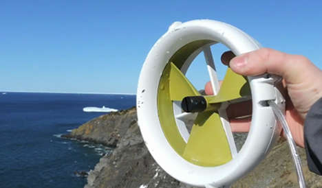 Personal Wind Turbines - The Waterlily Micro Turbine Uses Wind to Power Up Your Personal Electronics