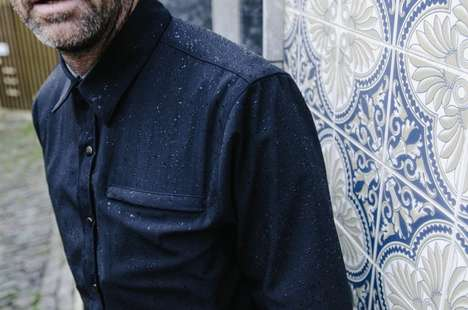 Tailored Rain-Proof Shirts - Parker Dusseau's New Waterproof Garment Keeps Men Stylish and Dry