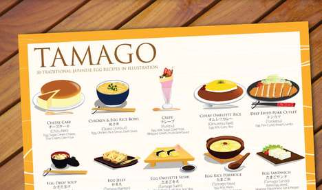 Japanese Egg Posters - This Tamago Poster Features 30 Traditional Egg Recipes