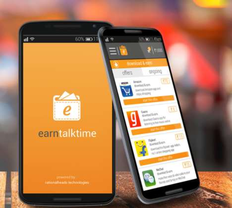 Pay-For-Use Data Apps - Earn Talktime Provides Pays Users Through a Variety of Different Functions