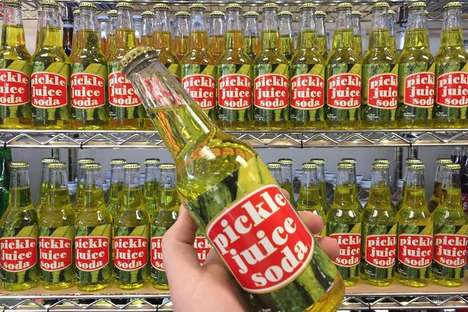 Pickle Juice Soda Pops - Uncle Joe's Candy Shop Now Offers Pickle-Flavored Soft Drinks