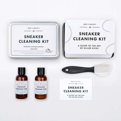 Artisanal Sneaker-Cleaning Packs - This Men's Society Shoe Care Kit Features a Handy Cleaning Guide