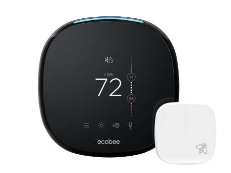 Assistant-Enabled Smart Thermostats - The Ecobee4 Comes Equipped with Amazon Alexa Functonality