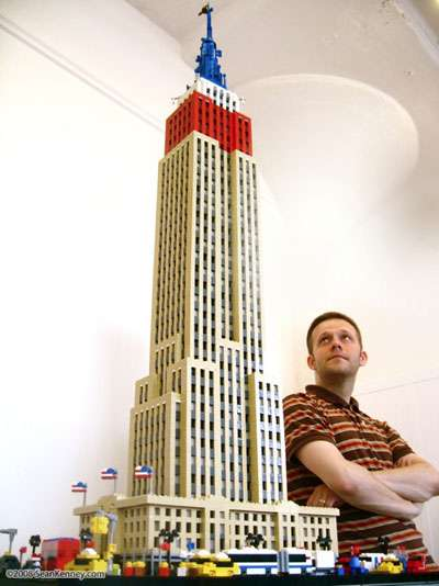 Cityscapes Made of Toys - New York City Replica Made Entirely of LEGO Blocks