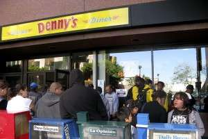 Gratis Grub at Denny's Feeds 2 Million Patient People