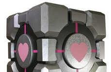 Loving Technology - Give a Heart-Embellished Companion Cube to Your Valentine