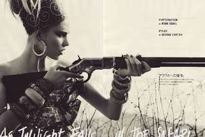 'As Twlight Falls in the Safari' by Vogue Nippon