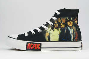Converse Designs Metallica and AC/DC Trainers for 'Rock' Series
