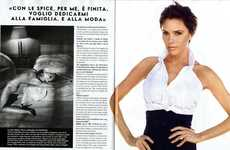 Recycled Celeb Photoshoots - Victoria Beckham Exemplifies Androgynous Chic for Vanity Fair