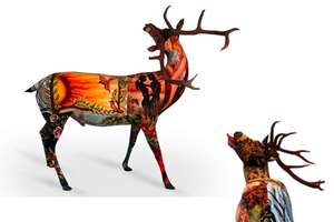 'My Deer' Sculptures Are Made from Rescued Textiles