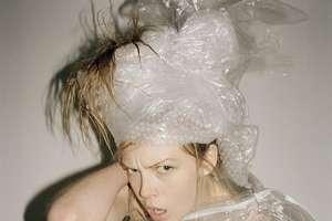 Dansk Magazine Wraps Norwegian Model in Recyclables