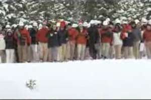 Verizon Network Heads to the Slopes to Flash Mob a Snowboarder