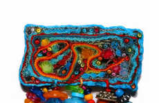Quirky Recycled Fabric Jewelry - Eccentric and Eco-Marvelous Fiber Millefiori Accessories