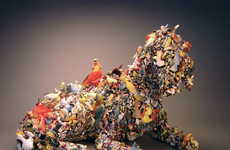 Recycled Mixed-Media Sculptures That Capture Animals in Action