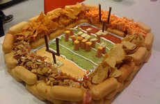 Snack Food Stadiums - 24,000-Calorie Tribute to the Super Bowl