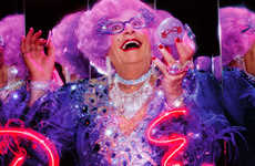 Cross-Dressing Brand Reps - Dame Edna Launches Limited-Edition MAC Cosmetics Collection