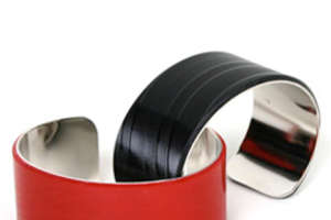 Recycled Rock-and-Roll Wrist Cuffs From Drink Cans and LPs