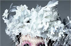 Papercraft Headwear - Katsuya Kamo Completes Chanel's Spring Look With Copy Paper Tiaras