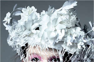 Katsuya Kamo Completes Chanel's Spring 2009 Look With Copy Paper Tiaras