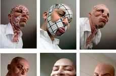 Paddy Hartley's Face-Altering Masks Mimic Plastic Surgery