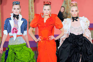 Christian Lacroix's Rainbow-Colored Runway Looks for S/S '09