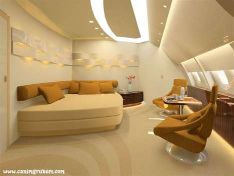Mile-High Flying Mansions - Exceptionally Luxurious Airplane Interiors by Luftansa Technik