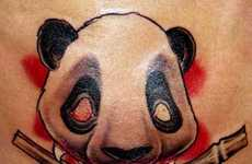 Pandattoos - Black and White Designs for Serious Animal Lovers