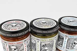 Fruta del Diablo Salsa Features Dia de los Muertos Skulls