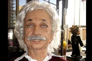 Unresponsive Einsteinbot Gives People Blank Stares