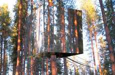 Tree-Top Hotel Covered in Mirrors Is As Green As It Is Cool