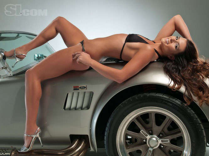 Race Car Drivers as Bikini Models