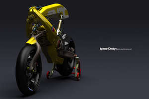 Aggressive Yellow Motorcycle for Automated Performance