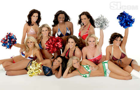 NBA Dancers as Bikini Models