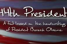 Presidential Typefaces - Obama Font Based On the President's Handwriting