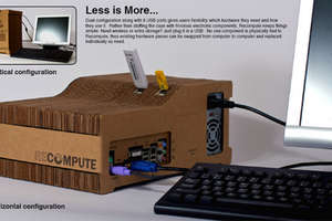 ReCompute Features Corrugated Cardboard Case