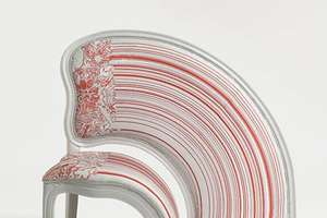 Pixel Stretched 'Lathe' Chairs by Sebastian Brajkovic