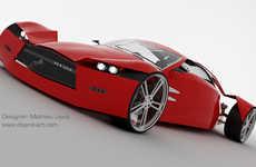 Futuristic Hydrogen Racecars