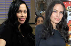 Creepy Celeb Emulation - Angelina Jolie is Irritated by Octuplets' Lookalike Mom