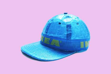 Kitschy Furniture Brand Caps - The Obscure IKEA Hat Was Inspired by the Brand's Blue Shopping Bags